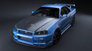 nissan skyline r34 nissan skyline r34 gt r solid post production