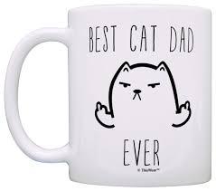 amazon com funny cat gifts best cat dad ever rude cat lovers cat