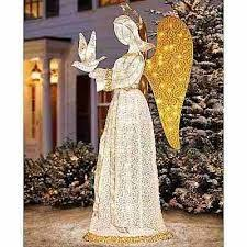 lighted christmas yard angels these elegant angels would be perfect for you entry in the 2013