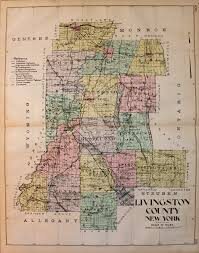 Warwick New York Map by Livingston County New York Antique Maps And Charts U2013 Original