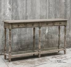 vintage style console table amazon com extra wide distressed weathered wood console table