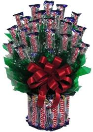 Candy Basket Baby Ruth Candy Bouquet