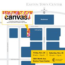 easton map canvas a ccad alumni pop up store columbus of design