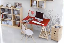 bureau dans salon amenager un coin bureau dans le salon avec un plateau et des