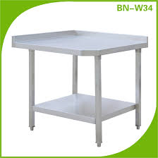 stainless steel corner work table commercial stainless steel work table for sale used in the kitchen