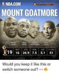 Kobe Lebron Jordan Meme - nbacom mount goatmore michael jordan kareem kobe lebron jamesabdu