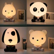 best light for sleep new baby room panda rabbit dog bear cartoon night light kids