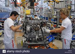 audi factory engine assembly at the audi factory in ingolstadt germany stock