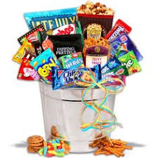 junk food basket basket junk food gift baskets care package by akomunn