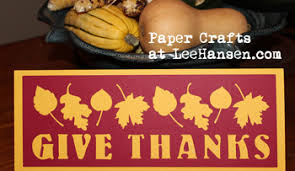 give thanks banner coloring craft card or die cut file