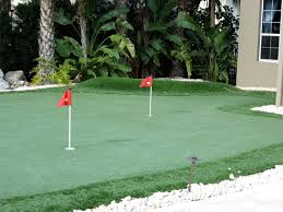 backyard putting greens basketball courts private tennis