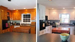 old kitchen cabinet makeover 10 diy kitchen cabinet makeovers before after photos that prove