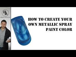 How To Spray Metallic Paint - cool spray can trick how to create your own metallic spray paint