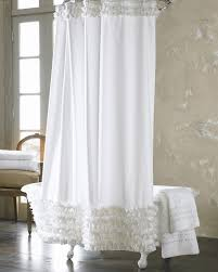 Clawfoot Tub Shower Curtain Ideas Ruffle Shower Curtain A Touch Of For Your Bathroom