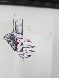 did a sketch of the batman who laughs during lunch like the re2