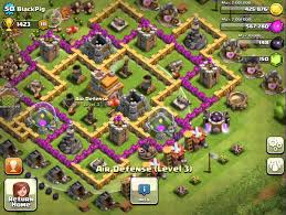 layout coc town hall level 7 clash of clans town hall level 7 best base defense youtube