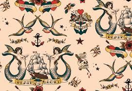 color sailor tattoos designs for women