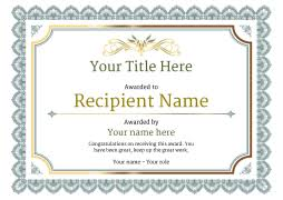 templates for award certificate printable free certificate templates simple to use add printable badges medals