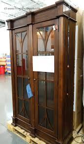 Glass Door Bookshelf Costco Sale Martin Furniture Glass Door Lighted Bookcase 389 99