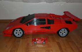 lego lamborghini car german builds lamborghini countach from lego