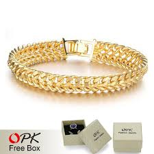 bracelet designs men images Opk cool man gold color bracelet chain bracelets for men never jpg