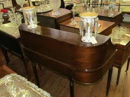 Solid Mahogany Dining Table Old English Inlaid Solid Mahogany Sheraton Style U201ccarlton House