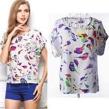 womens casual fashion blouse casual floral shirt summer