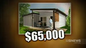 flat pack homes ibuild lekofly home featured in channel 9 news on flat pack homes