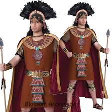 Native Indian Halloween Costumes C905 Mayan King Native Indian Mens Wild West Warrior Halloween