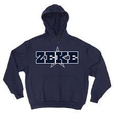 cowboys sweater navy ezekiel elliott dallas cowboys zeke jersey hooded