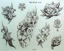 few flowers tattoo designs tattoos book 65 000 tattoos designs