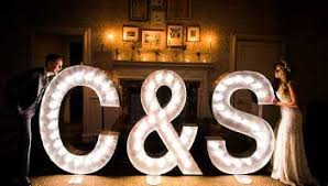 marquee numbers with lights illuminated letter hire wedding letter hire