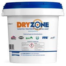 dryzone damp proof injection cream in 5l tub restoration uk