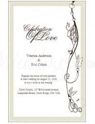 formal wedding invitations printable formal wedding invitation templates