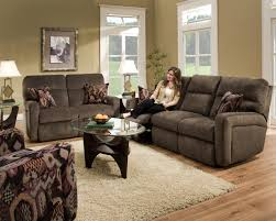 Southern Sofa Beds Contemporary Styled Double Reclining Sofa For Family Rooms By