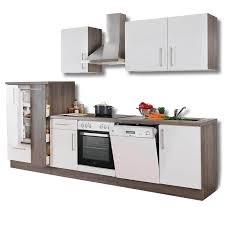 Küchenblock JULIA weiß Hochglanz Trüffel mit E Geräten