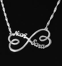 infinity necklace with name usa name necklace personalized necklaces united states jewelry