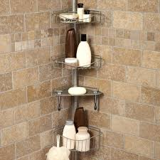 bathroom caddy ideas breathtaking tiers aluminum satina corner bathroom caddy ideas