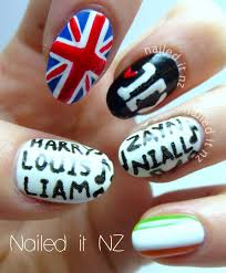 tutorial nail art one direction one direction nail art finally