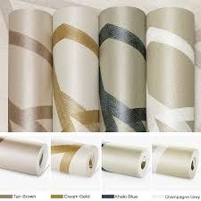aliexpress com buy metallic blue modern geometric wallpaper roll