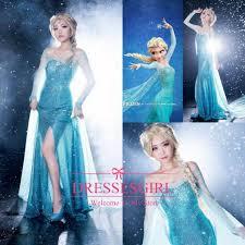 2015 frozen anna elsa cosplay dresses fashion halloween theme