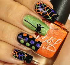 musings of the wife of a jedi halloween nails with colors by llarowe