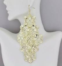 Chandelier Gold Earrings Gold Chandelier Earrings Ebay