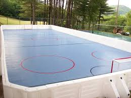 Backyard Rink Ideas Hockey Rink Set Up At C With Prowall Dasher Boards What S