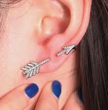 cuff piercing cupid s arrow wrapping ear cuff single 1 piercing lilyfair