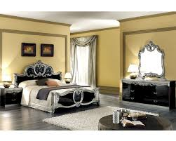 Set Silver Baroque Classic Style Made In Italy B - Furniture mart bedroom sets