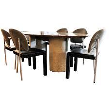 saporiti italia italian dining table and set of six chairs italia