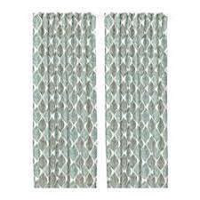 White And Teal Curtains Curtains Blinds Ikea