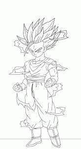 dragon ball z coloring pages gohan eson me