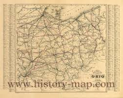 Ohio Map by Railroad Map